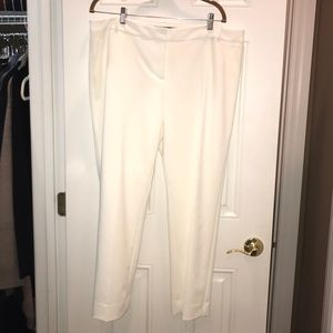 Winter White ankle pants